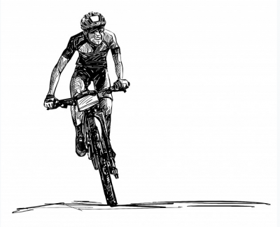 Mountainbike tekening